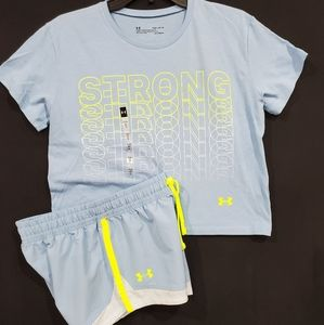 🆕️ Under armour shorts and crop tee